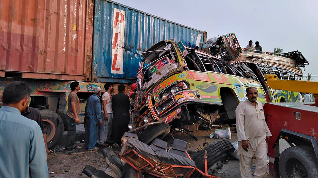 Bus-Truck-Accident