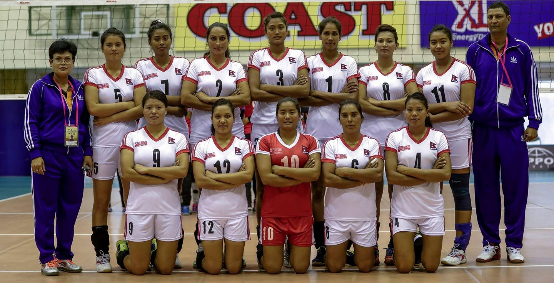 Nepal-Woman-Volleyball